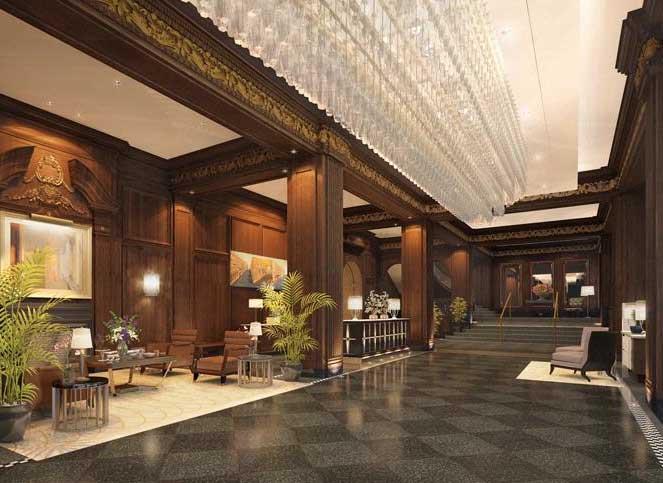 Lobby of rosewood hotel georgia